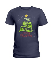 LIBRARIAN MERRY CHRISTMAS Ladies T-Shirt thumbnail