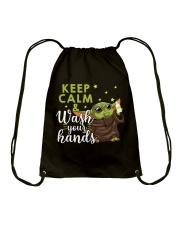 wash your hands Drawstring Bag thumbnail