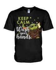 wash your hands V-Neck T-Shirt thumbnail