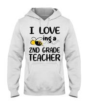 I Love being a 2nd grade Teacher Hooded Sweatshirt thumbnail