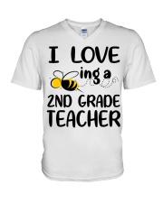 I Love being a 2nd grade Teacher V-Neck T-Shirt thumbnail