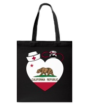 California Nurse Tote Bag front