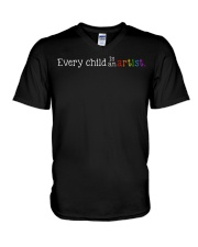 EVERY CHILD IS AN ARTIST V-Neck T-Shirt thumbnail