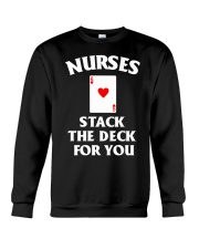 Nurses stack the deck for you Crewneck Sweatshirt thumbnail