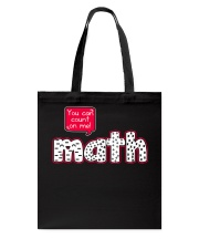 YOU CAN COUNT ON ME MATH Tote Bag tile
