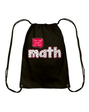 YOU CAN COUNT ON ME MATH Drawstring Bag tile