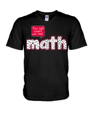 YOU CAN COUNT ON ME MATH V-Neck T-Shirt tile