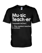 Music Teacher  V-Neck T-Shirt tile