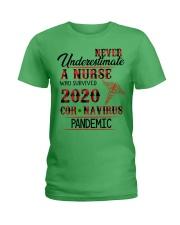 Never Underestimate a Nurse Ladies T-Shirt tile