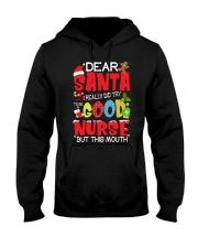 DEAR SANTA I REALLY DID TRY TO BE A GOOD NURSE Hooded Sweatshirt thumbnail