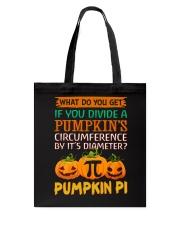 Math Pumpkin Pi Tote Bag front
