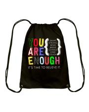 You are Enough Drawstring Bag thumbnail
