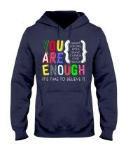 You are Enough Hooded Sweatshirt thumbnail