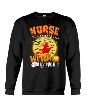 NURSE BY DAY WITCH BY NIGHT Crewneck Sweatshirt thumbnail