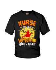 NURSE BY DAY WITCH BY NIGHT Youth T-Shirt thumbnail