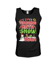 I LOVE TEACHING MATH SNOW MUCH Unisex Tank thumbnail