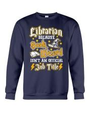 Librarian Because book wizard Crewneck Sweatshirt thumbnail