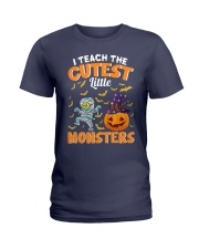 I TEACH THE CUTEST LITTLE MONSTERS Ladies T-Shirt thumbnail