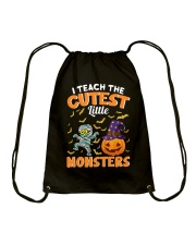I TEACH THE CUTEST LITTLE MONSTERS Drawstring Bag thumbnail