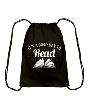 It's a good day to Read Drawstring Bag front