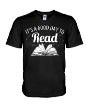 It's a good day to Read V-Neck T-Shirt thumbnail