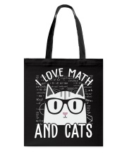 I LOVE MATH AND CATS Tote Bag thumbnail