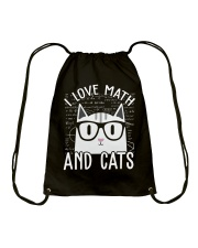 I LOVE MATH AND CATS Drawstring Bag thumbnail