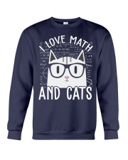 I LOVE MATH AND CATS Crewneck Sweatshirt thumbnail