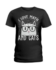 I LOVE MATH AND CATS Ladies T-Shirt thumbnail
