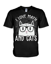 I LOVE MATH AND CATS V-Neck T-Shirt thumbnail