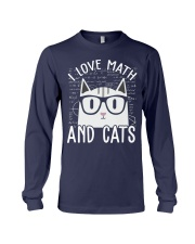 I LOVE MATH AND CATS Long Sleeve Tee thumbnail