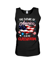 THE FUTURE AMERICA IS IN MY CLASSROOM Unisex Tank thumbnail