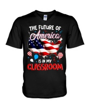 THE FUTURE AMERICA IS IN MY CLASSROOM V-Neck T-Shirt thumbnail
