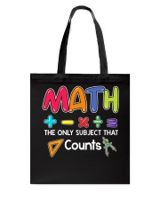 Math The only subject that counts Tote Bag thumbnail