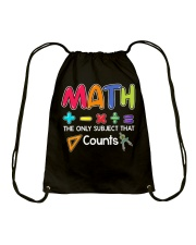 Math The only subject that counts Drawstring Bag thumbnail