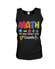 Math The only subject that counts Unisex Tank thumbnail