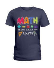Math The only subject that counts Ladies T-Shirt thumbnail