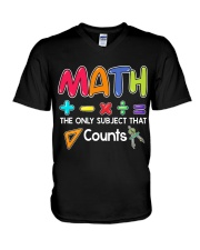 Math The only subject that counts V-Neck T-Shirt thumbnail