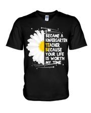 Kindergarten Teacher V-Neck T-Shirt thumbnail