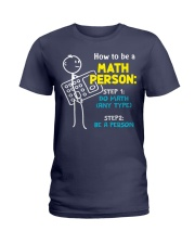 How to be a Math Person Ladies T-Shirt thumbnail