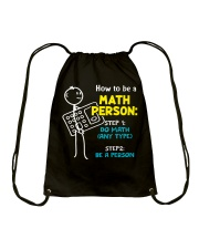 How to be a Math Person Drawstring Bag tile