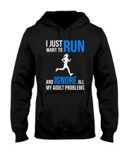 I JUST WANT TO RUN Hooded Sweatshirt tile