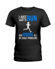 I JUST WANT TO RUN Ladies T-Shirt thumbnail