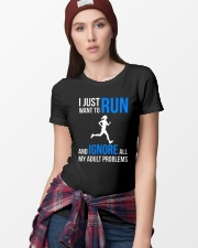 I JUST WANT TO RUN Ladies T-Shirt lifestyle-women-crewneck-front-9
