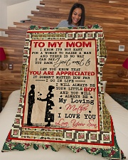 """MS003 - GIFT FOR MOM Large Fleece Blanket - 60"""" x 80"""" aos-coral-fleece-blanket-60x80-lifestyle-front-04"""