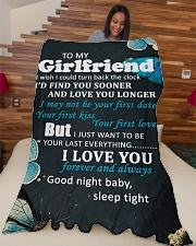 "GF012 - GIFT FOR GIRLFRIEND Large Fleece Blanket - 60"" x 80"" aos-coral-fleece-blanket-60x80-lifestyle-front-04"