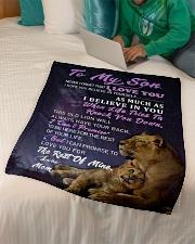 "SM009 GIFT FOR SON Small Fleece Blanket - 30"" x 40"" aos-coral-fleece-blanket-30x40-lifestyle-front-07"