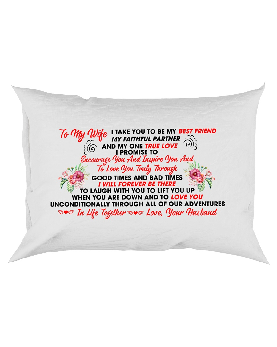 GIFT FOR WIFE FROM HUSBAND Rectangular Pillowcase