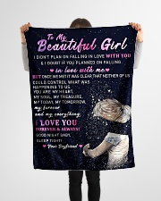 "GF001 - GIFT FOR GIRLFRIEND Small Fleece Blanket - 30"" x 40"" aos-coral-fleece-blanket-30x40-lifestyle-front-14"