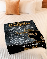 """DD008 GIFT FOR DAUGHTER Small Fleece Blanket - 30"""" x 40"""" aos-coral-fleece-blanket-30x40-lifestyle-front-01"""